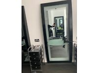 Dir Black Hairdressing Wall Mounted Mirrors