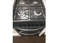 Black belling 50cm gas cooker grill & double ovens good condition with guarantee