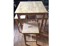 Ikea Bar Table & 3 Stools Björkudden