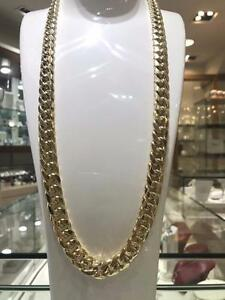 10k Yellow Gold MIAMI Cuban Link 30 inches 13.5 mm 126.7 gr