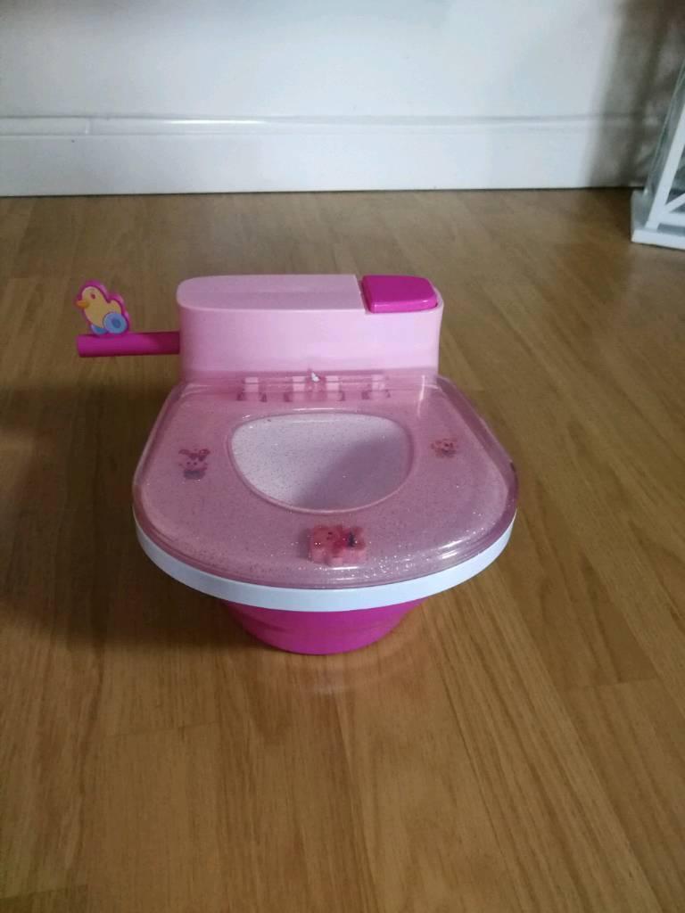 Baby born toilet