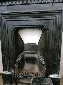 Old cast iron fireplace (art deco?)