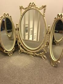 Beautiful shabby chic antique dressing table mirror