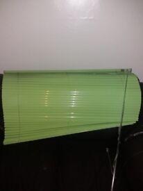 "Lime green Venetian blinds 42"" width x 45"" drop"