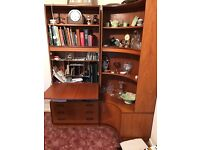 G-plan retro wall units with drinks cabinet and corner unit