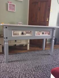 Large painted console table