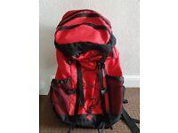 80l + 10l Red and Black Rucksack