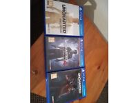 playstation 4 games look at ad for prices and game titles