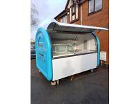 Hand Push Food Cart Catering Trailer Burger Van Ice Cream Sweets Cart 2300x1650x2100
