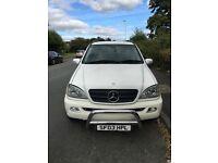 Mercedes-Benz ML270 2.7TD Auto CDI White