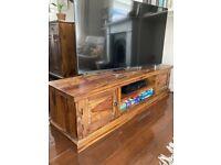 Jodhpur Solid Sheesham Wood Large TV Lcd Cabinet Stand