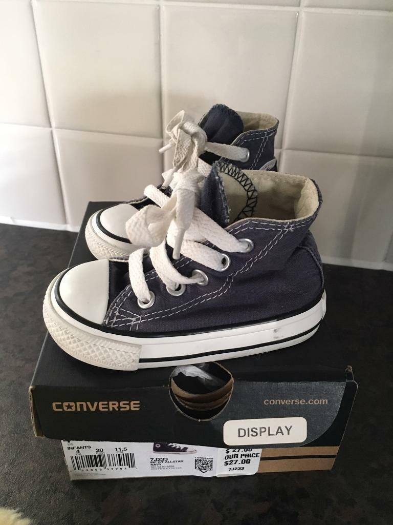 66d4bbbd4d79 Converse size 4 navy toddler kids trainers and wellies size 3