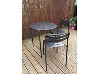 Metal garden and chair set