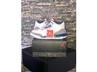 Jordan 3 True Blue Rare (sold out) Uk 7