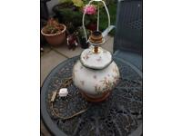 Vintage Crackle Glaze Porcelain Lamp in first class condition.