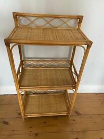 Vintage Bamboo Cane Shelf Stand, good condition