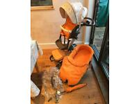 Stokke Xplory pushchair/pram v2- with newborn bundle, parasol, raincover