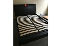 King size (5ft) faux leather bed frame