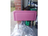 Headboard Single Pink