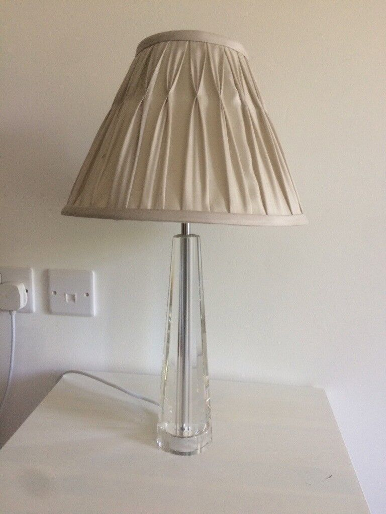 Laura Ashley Crystal Glass Bedside Table Lamps In Littlehampton