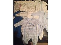 Newborn/up to 1 month baby boys clothes bundle