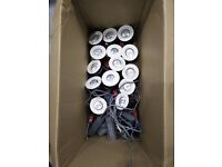 14 Halogen downlights, transformers and bulbs