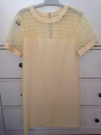 Yellow shift dress size 6
