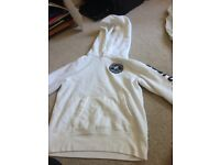 Abercrombie and Fitch white jumper