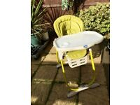 CHICCO Polly Magic Highchair Lime GRAB BARGAIN