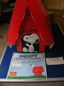 Very Collectable Mcdonalds Snoopy Collection (30) with presentation case and COA