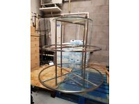 Metal/Glass Display Stand 3 Tier Round