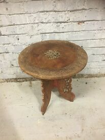 Circular Wooden Asian Carved Table - Lovely Unusual Piece !!