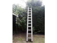 Ladder three section aluminium