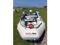 Honwave T32-IE2,Johnson 15hp outboard Remotes,remote steering.