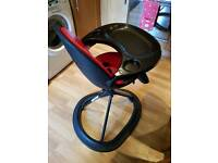 ICKLE BUBBA BLACK & RED HIGH CHAIR