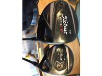 Titleist 913 D2 driver 7.5 degree and 913FD 3 wood
