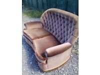 Chesterfield style 2seater high back sofa