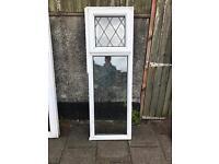 2 white used Upvc windows top openers