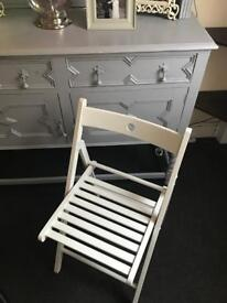Shabby chic garden/indoor folding chair