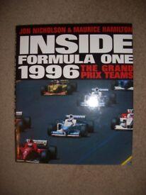 Inside Formula One 1996 Book