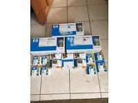 HP Color Laserjet CP3505-3800 Q7581A-Q7582A-Q7583A ink cartridges JOB LOT