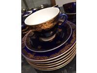 Vintage USSR porcelain tea set 22k gold hand painted £225 for the whole set!