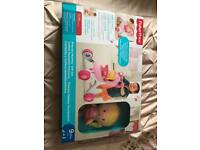 Fisher price musical walker and chime doll gift set brand new