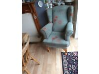 Solid fire side chair