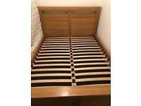 Solid Oak Kingsize Bed for sale  Bournemouth, Dorset