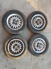 Triumph Acclaim 4x100 Steel Wheels With Tyres
