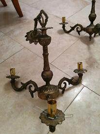2 off Antique Brass Lights