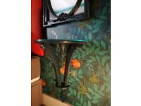 A set of 2 decorative matching mirros & 2 wall mounted bedside tables that come as a set.