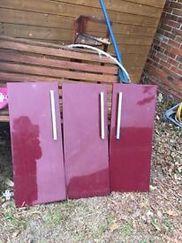 Kitchen cabinets doors (gloss) new £5 each