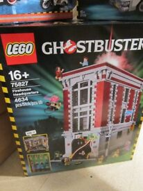 lego ghostbuster fire house new